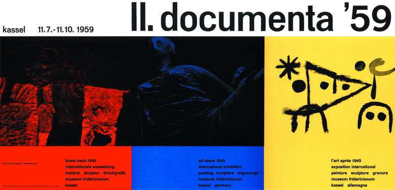 Plakat zur documenta 2 in 1959